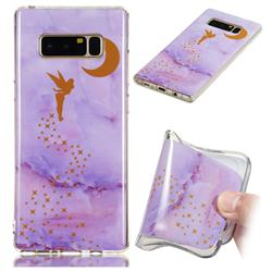 Elf Purple Soft TPU Marble Pattern Phone Case for Samsung Galaxy Note 8