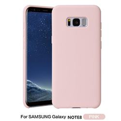 Howmak Slim Liquid Silicone Rubber Shockproof Phone Case Cover for Samsung Galaxy Note 8 - Pink