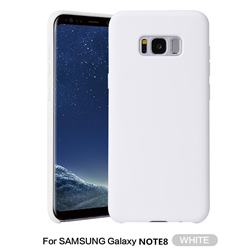 Howmak Slim Liquid Silicone Rubber Shockproof Phone Case Cover for Samsung Galaxy Note 8 - White