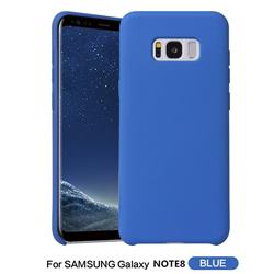 Howmak Slim Liquid Silicone Rubber Shockproof Phone Case Cover for Samsung Galaxy Note 8 - Sky Blue