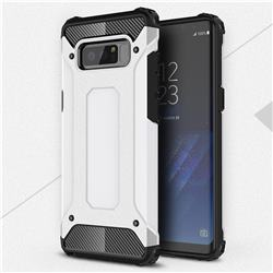 King Kong Armor Premium Shockproof Dual Layer Rugged Hard Cover for Samsung Galaxy Note 8 - White