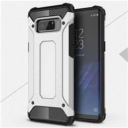 King Kong Armor Premium Shockproof Dual Layer Rugged Hard Cover for Samsung Galaxy Note 8 - Technology Silver