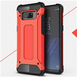 King Kong Armor Premium Shockproof Dual Layer Rugged Hard Cover for Samsung Galaxy Note 8 - Big Red