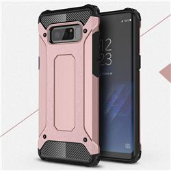 King Kong Armor Premium Shockproof Dual Layer Rugged Hard Cover for Samsung Galaxy Note 8 - Rose Gold