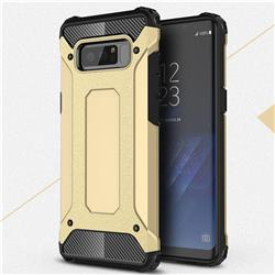 King Kong Armor Premium Shockproof Dual Layer Rugged Hard Cover for Samsung Galaxy Note 8 - Champagne Gold
