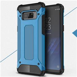 King Kong Armor Premium Shockproof Dual Layer Rugged Hard Cover for Samsung Galaxy Note 8 - Sky Blue