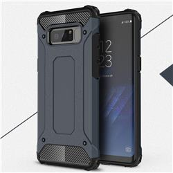 King Kong Armor Premium Shockproof Dual Layer Rugged Hard Cover for Samsung Galaxy Note 8 - Navy