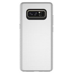 Triangle Texture Shockproof Hybrid Rugged Armor Defender Phone Case for Samsung Galaxy Note 8 - Silver
