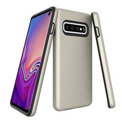 Triangle Texture Shockproof Hybrid Rugged Armor Defender Phone Case for Samsung Galaxy Note 8 - Golden