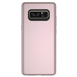 Triangle Texture Shockproof Hybrid Rugged Armor Defender Phone Case for Samsung Galaxy Note 8 - Rose Gold