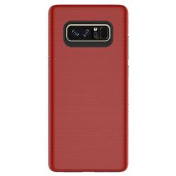 Triangle Texture Shockproof Hybrid Rugged Armor Defender Phone Case for Samsung Galaxy Note 8 - Red