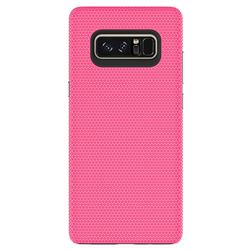 Triangle Texture Shockproof Hybrid Rugged Armor Defender Phone Case for Samsung Galaxy Note 8 - Rose