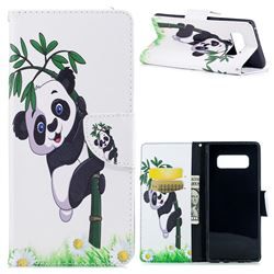 Bamboo Panda Leather Wallet Case for Samsung Galaxy Note 8