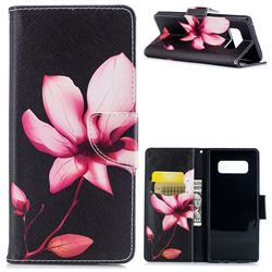 Lotus Flower Leather Wallet Case for Samsung Galaxy Note 8