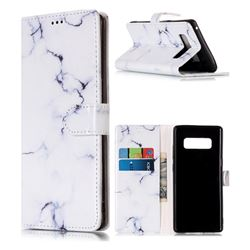 Soft White Marble PU Leather Wallet Case for Samsung Galaxy Note 8