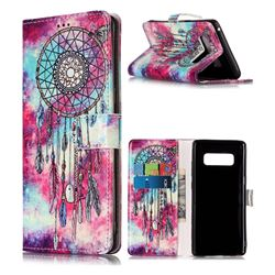 Butterfly Chimes PU Leather Wallet Case for Samsung Galaxy Note 8
