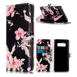 Azalea Flower PU Leather Wallet Case for Samsung Galaxy Note 8