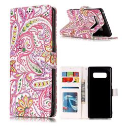 Pepper Flowers 3D Relief Oil PU Leather Wallet Case for Samsung Galaxy Note 8