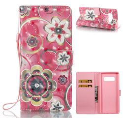 Tulip Flower 3D Painted Leather Wallet Case for Samsung Galaxy Note 8