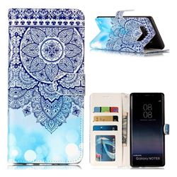 Totem Flower 3D Relief Oil PU Leather Wallet Case for Samsung Galaxy Note 8
