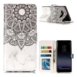Marble Mandala 3D Relief Oil PU Leather Wallet Case for Samsung Galaxy Note 8