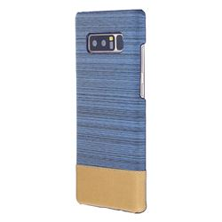 Canvas Cloth Coated Plastic Back Cover for Samsung Galaxy Note 8 - Light Blue