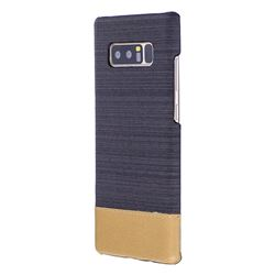 Canvas Cloth Coated Plastic Back Cover for Samsung Galaxy Note 8 - Black