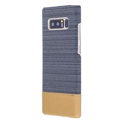 Canvas Cloth Coated Plastic Back Cover for Samsung Galaxy Note 8 - Dark Grey