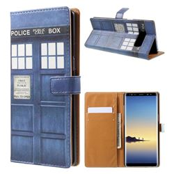 Police Box Leather Wallet Case for Samsung Galaxy Note 8