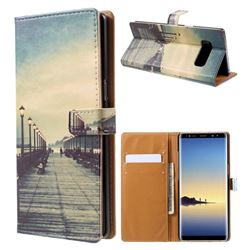 Retro Bridge Leather Wallet Case for Samsung Galaxy Note 8