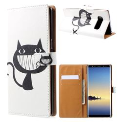 Proud Cat Leather Wallet Case for Samsung Galaxy Note 8