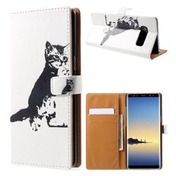 Cute Cat Leather Wallet Case for Samsung Galaxy Note 8