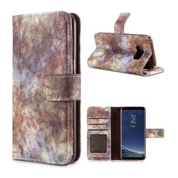 Luxury Retro Forest Series Leather Wallet Case for Samsung Galaxy Note 8 - White