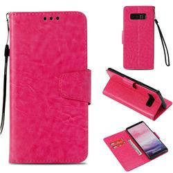 Retro Phantom Smooth PU Leather Wallet Holster Case for Samsung Galaxy Note 8 - Rose