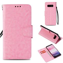 Retro Phantom Smooth PU Leather Wallet Holster Case for Samsung Galaxy Note 8 - Pink