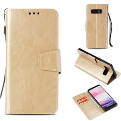 Retro Phantom Smooth PU Leather Wallet Holster Case for Samsung Galaxy Note 8 - Champagne