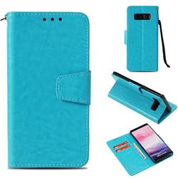 Retro Phantom Smooth PU Leather Wallet Holster Case for Samsung Galaxy Note 8 - Sky Blue