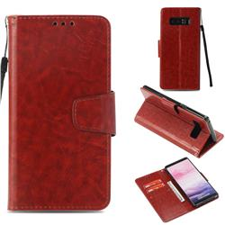 Retro Phantom Smooth PU Leather Wallet Holster Case for Samsung Galaxy Note 8 - Brown