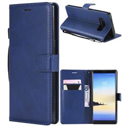 Retro Greek Classic Smooth PU Leather Wallet Phone Case for Samsung Galaxy Note 8 - Blue