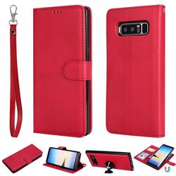 Retro Greek Detachable Magnetic PU Leather Wallet Phone Case for Samsung Galaxy Note 8 - Red