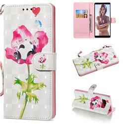 Flower Panda 3D Painted Leather Wallet Phone Case for Samsung Galaxy Note 8