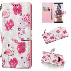 Flamingo 3D Painted Leather Wallet Phone Case for Samsung Galaxy Note 8