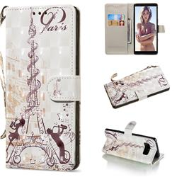 Tower Couple 3D Painted Leather Wallet Phone Case for Samsung Galaxy Note 8