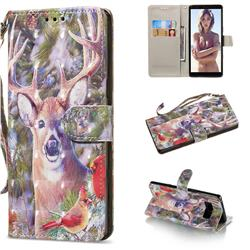 Elk Deer 3D Painted Leather Wallet Phone Case for Samsung Galaxy Note 8