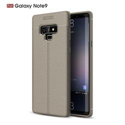 Luxury Auto Focus Litchi Texture Silicone TPU Back Cover for Samsung Galaxy Note9 - Gray