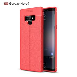 Luxury Auto Focus Litchi Texture Silicone TPU Back Cover for Samsung Galaxy Note9 - Red