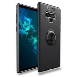Auto Focus Invisible Ring Holder Soft Phone Case for Samsung Galaxy Note9 - Black
