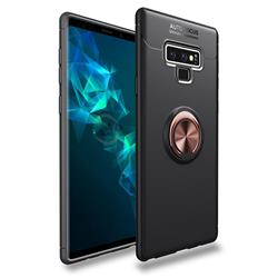 Auto Focus Invisible Ring Holder Soft Phone Case for Samsung Galaxy Note9 - Black Gold