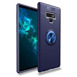 Auto Focus Invisible Ring Holder Soft Phone Case for Samsung Galaxy Note9 - Blue