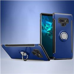 Armor Anti Drop Carbon PC + Silicon Invisible Ring Holder Phone Case for Samsung Galaxy Note9 - Sapphire
